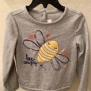 Gymboree Bee sweatshirt, EUC